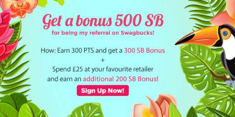 Join Swagbucks in August and get a 500 SB bonus!