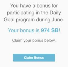 dailygoal bonus