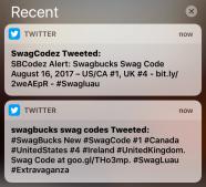swagcode twitter alert