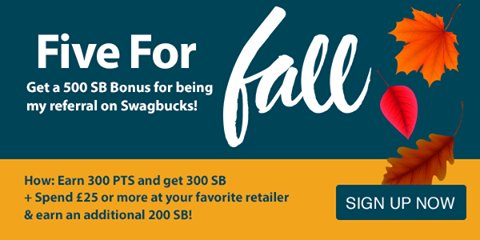 Get a 500 SB bonus if you join Swagbucks during October