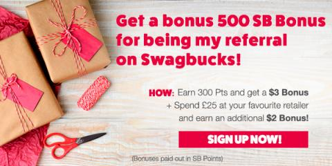 Get a £4 bonus for joining Swagbucks during December